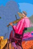 γυναίκα βιολιών Στοκ Εικόνα