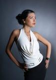 γυναίκα βλαστών μόδας βρα&d Στοκ φωτογραφία με δικαίωμα ελεύθερης χρήσης