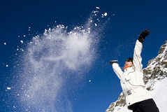 γυναίκα βουνών Στοκ εικόνες με δικαίωμα ελεύθερης χρήσης