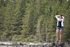 γυναίκα βράχου Στοκ εικόνα με δικαίωμα ελεύθερης χρήσης