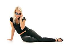 γυναίκα γυαλιών ηλίου Στοκ Φωτογραφία