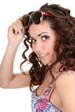 γυναίκα γυαλιών ηλίου brunette Στοκ Φωτογραφίες
