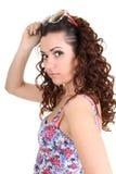 γυναίκα γυαλιών ηλίου brunette Στοκ Εικόνα