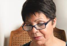 γυναίκα γυαλιών Στοκ Φωτογραφία