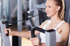 γυναίκα γυμναστικής στοκ εικόνες