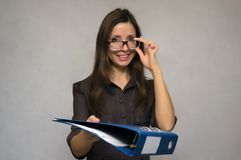 Γυναίκα δασκάλων ή γραμματέων Στοκ Φωτογραφίες