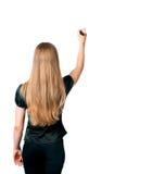 γυναίκα δεικτών σχεδίων Στοκ Εικόνα