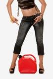 γυναίκα δεξαμενών ποδιών &alph στοκ φωτογραφία με δικαίωμα ελεύθερης χρήσης