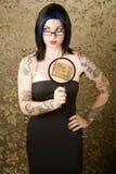γυναίκα δερματοστιξιών Στοκ Φωτογραφία