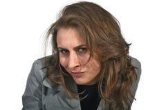 Γυναίκα δυσπιστίας που εξετάζει σας στοκ φωτογραφία με δικαίωμα ελεύθερης χρήσης