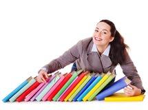 γυναίκα εκμετάλλευσης βιβλίων στοκ φωτογραφίες με δικαίωμα ελεύθερης χρήσης