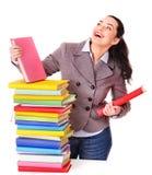γυναίκα εκμετάλλευσης βιβλίων στοκ εικόνες