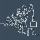Γυναίκα, εκπαίδευση, επιτυχία ελεύθερη απεικόνιση δικαιώματος