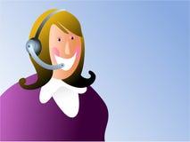 γυναίκα εξυπηρέτησης πελατών Στοκ Εικόνα