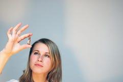 γυναίκα επιστήμης Στοκ Εικόνες