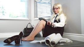 γυναίκα 2 επιχειρήσεων απόθεμα βίντεο