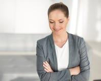 γυναίκα επιχειρησιακού σύγχρονη πορτρέτου Στοκ εικόνα με δικαίωμα ελεύθερης χρήσης