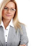 γυναίκα επιχειρησιακών γυαλιών Στοκ φωτογραφία με δικαίωμα ελεύθερης χρήσης