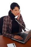 γυναίκα επιχειρησιακών τηλεφώνων Στοκ φωτογραφία με δικαίωμα ελεύθερης χρήσης