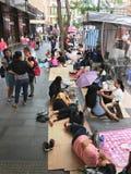 Γυναίκα εργαζόμενοι στη ημέρα αδείας τους στο Χονγκ Κονγκ Στοκ εικόνες με δικαίωμα ελεύθερης χρήσης