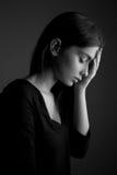 Γυναίκα εφήβων κατάθλιψης †«λυπημένη στοκ εικόνες