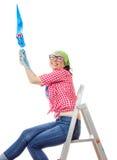 Γυναίκα ζωγράφων σπιτιών Στοκ Εικόνα