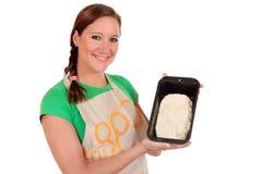 γυναίκα ζύμης ψωμιού Στοκ εικόνες με δικαίωμα ελεύθερης χρήσης