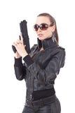 γυναίκα ιδιωτικών αστυνομικών στοκ φωτογραφία με δικαίωμα ελεύθερης χρήσης