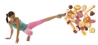 Γυναίκα ικανότητας διατροφής στοκ φωτογραφία με δικαίωμα ελεύθερης χρήσης