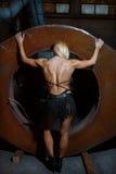 Γυναίκα ικανότητας. πλάτη. Στοκ Εικόνα