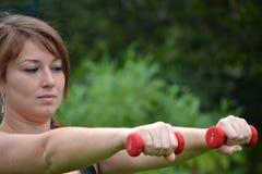 Γυναίκα ικανότητας στο πάρκο Στοκ Εικόνες