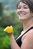 Γυναίκα ικανότητας στο πάρκο Στοκ Εικόνα