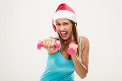 Γυναίκα ικανότητας Χριστουγέννων Στοκ Εικόνα