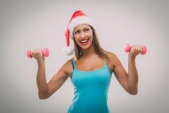 Γυναίκα ικανότητας Χριστουγέννων Στοκ Φωτογραφίες