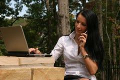 γυναίκα δικτύωσης Στοκ Εικόνες