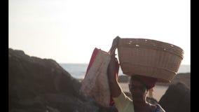 Γυναίκα Ινδία απόθεμα βίντεο