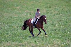 γυναίκα ιππασίας Στοκ Φωτογραφία