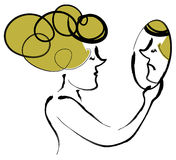 γυναίκα καθρεφτών Διανυσματική απεικόνιση