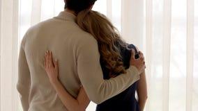 Γυναίκα και άνδρας, πίσω άποψη απόθεμα βίντεο