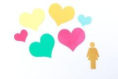 Γυναίκα και καρδιά Στοκ εικόνες με δικαίωμα ελεύθερης χρήσης