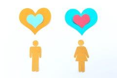 Γυναίκα και καρδιά ανδρών Στοκ Φωτογραφία