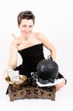 Γυναίκα και κλίμακες Στοκ φωτογραφία με δικαίωμα ελεύθερης χρήσης