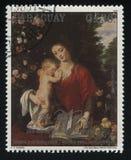 Γυναίκα και παιδί που διαβάζουν το βιβλίο από Rubens Στοκ Εικόνες