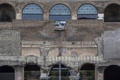 Γυναίκα και παιδί στο Colosseum Στοκ εικόνα με δικαίωμα ελεύθερης χρήσης