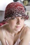 γυναίκα καπέλων μάλλινη Στοκ Φωτογραφία