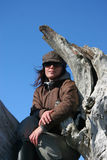 γυναίκα καπέλων Στοκ εικόνα με δικαίωμα ελεύθερης χρήσης