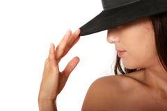 γυναίκα καπέλων Στοκ φωτογραφία με δικαίωμα ελεύθερης χρήσης