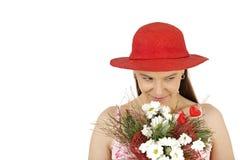 γυναίκα καπέλων Στοκ Εικόνες