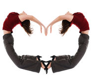 γυναίκα καρδιών s στοκ φωτογραφίες με δικαίωμα ελεύθερης χρήσης