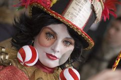 γυναίκα καρναβαλιού Στοκ εικόνες με δικαίωμα ελεύθερης χρήσης